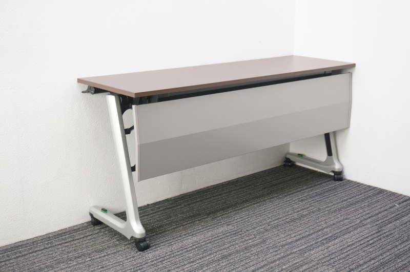 イトーキ コンシア フラップテーブル 1545 幕板付 ファインウォールナットD