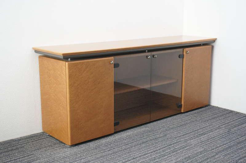オカムラ プレビア 木製サイドボード W1800 D450 H720