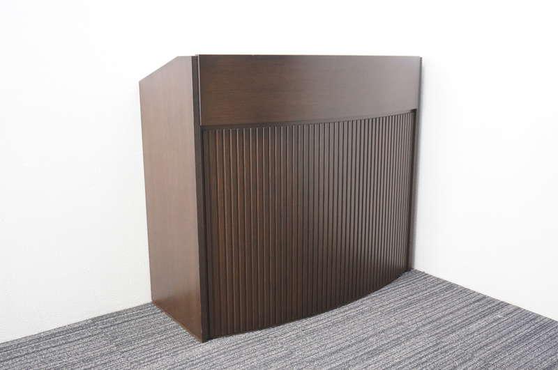 イトーキ 木製演台 W1200 D550 H1065 オークダークブラウン