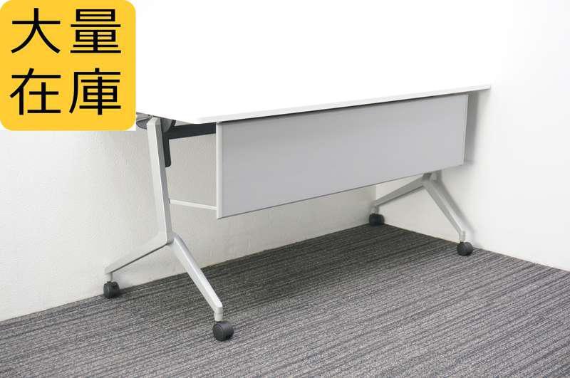 コクヨ リーフライン フラップテーブル 1560 幕板付 網棚なし ホワイト H720