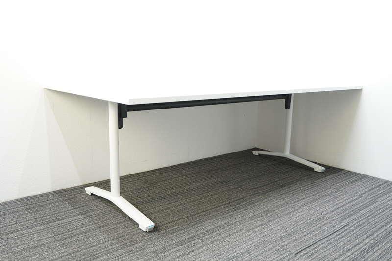 コクヨ ビエナ ミーティングテーブル フラップタイプ キャスター脚 W2100 D1050 H720 ホワイト