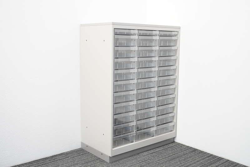 イトーキ シンラインキャビネットA4 書類整理庫 3列11段 コンビタイプ 天板付 W800 D450 H1120 WE色