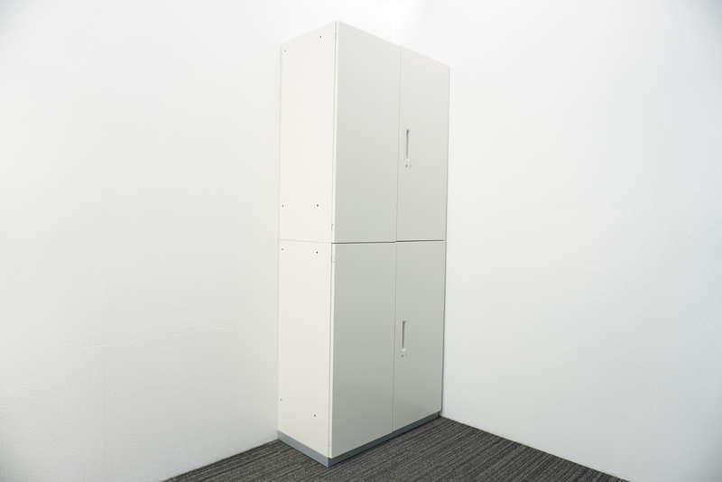 プラス L6 両開き2段書庫 H2150 ホワイト
