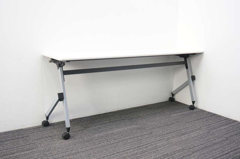 イトーキ HX フラップテーブル 1845 幕板無し 棚板無し ホワイト