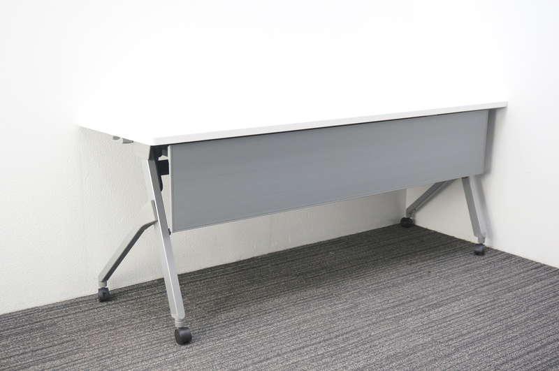 オカムラ フラプター フラップテーブル 1860 幕板付 網棚なし H720 ホワイト