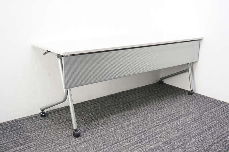 オカムラ ネスティア フラップテーブル 1860 ライトグレー
