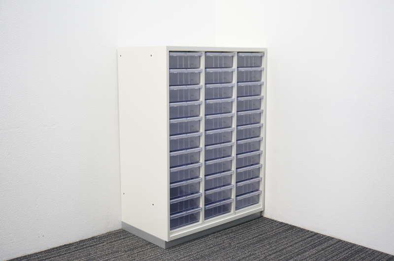 プラス L6 書類整理庫 3列11段 A4 深型 W800 D450 H1100 ホワイト