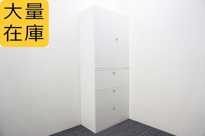 オカムラ レクトライン 3段ラテラル+両開き書庫 H2150 ZA75色