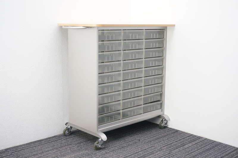 イトーキ 書類整理庫 3列9段 A4 深型 天板/キャスター付 W1060 D600 H1050