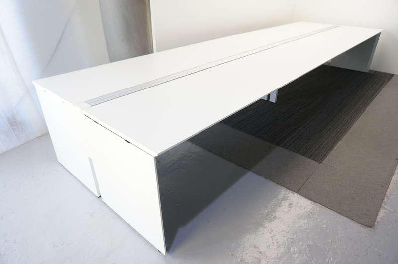 コクヨ ワークヴィスタ フリーアドレス 4814 W2400天板×4枚 8席分 ホワイト H720