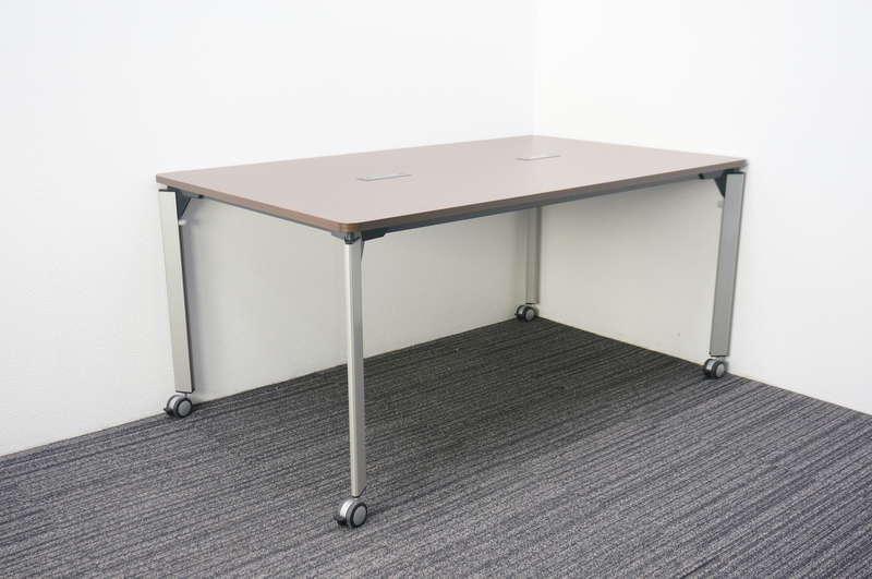 イトーキ DE ミーティングテーブル 1590 配線対応キャップ仕様 キャスター付