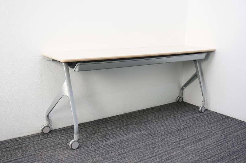 コクヨ エピファイ フラップテーブル 1845 幕板無し 網棚付き ライトナチュラル天板