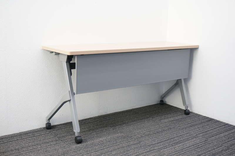 オカムラ フラプター フラップテーブル 1545 幕板付 網棚なし H720 ネオウッドライト