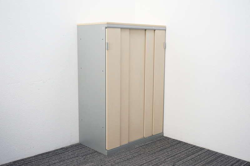 オカムラ SAハイライン 5枚スライド書庫 天板付 W800 D450 H1204 ライトプレーン