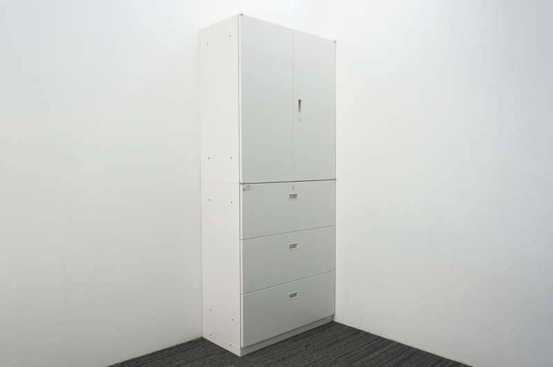 イトーキ シンライン 3段ラテラル+両開き書庫 H2140 W9色 (2)