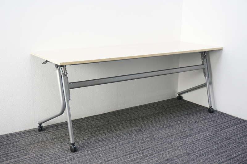 オカムラ ネスティア フラップテーブル 1860 幕板無し/網棚無し ライトプレーン