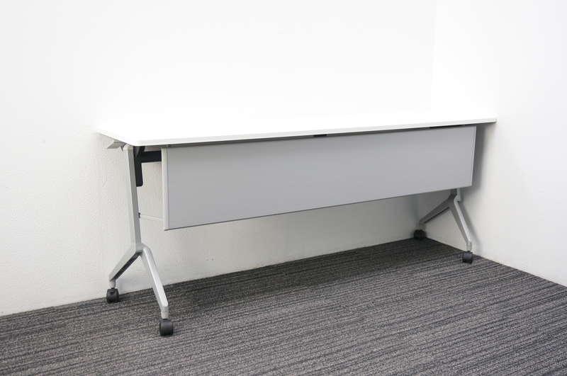 コクヨ リーフライン フラップテーブル 1845 幕板付 網棚なし ホワイト H720