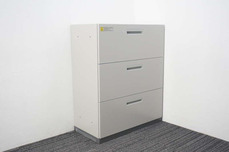 ウチダ ハイパーストレージ 3段ラテラル書庫 ダブルベース H1100