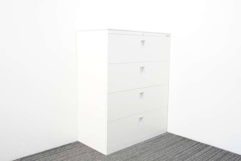 オカムラ レクトライン 4段ラテラル書庫 天板付 H1115 ZA75色