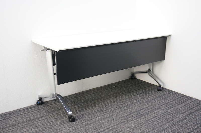 コクヨ コンフェスト フラップテーブル 棚付 幕板付 1560 ホワイト 2020年製