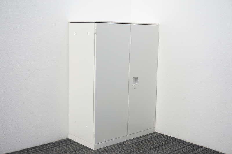 オカムラ レクトライン 両開き書庫 天板付 W800 D400 H1115 ZA75色
