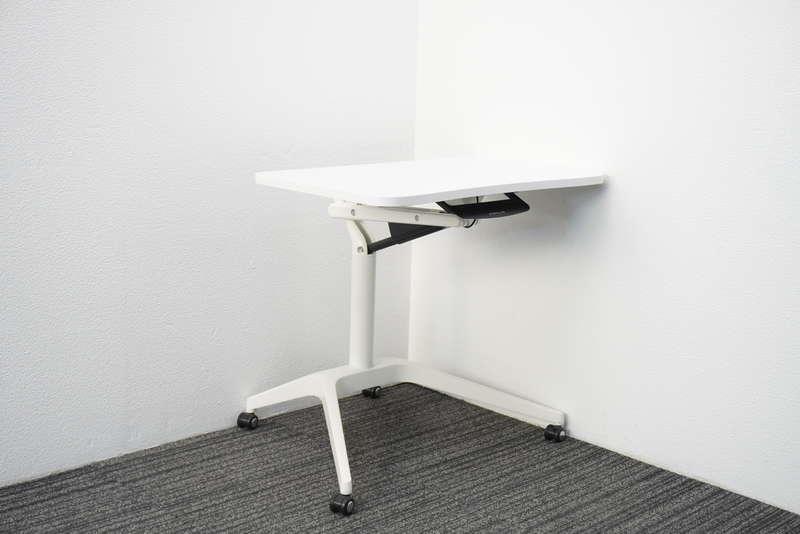 オカムラ ライズフィット3 昇降テーブル W735 D641 H665-1000 ホワイト