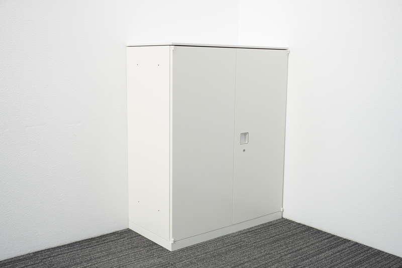 オカムラ レクトライン 両開き書庫 天板付 H1115 ZA75色