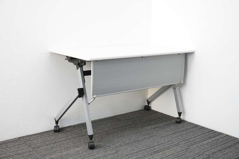【2019年製】イトーキ HX フラップテーブル 1260 幕板付 棚板無し ホワイト