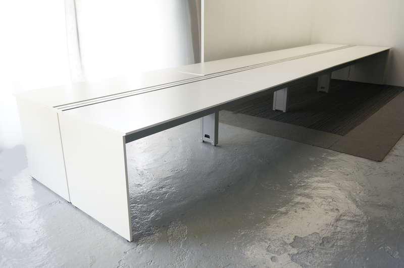 イトーキ インステートリンク フリーアドレスデスク 6414 W1600天板×8枚 8席分 H720 ホワイト