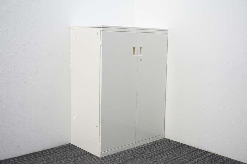 オカムラ SAデュオライン 両開き書庫 天板付 W800 D450 H1080 ホワイト