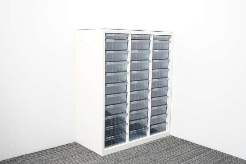 オカムラ レクトライン 書類整理庫 3列11段 コンビタイプ 天板付 H1115 ZA75色