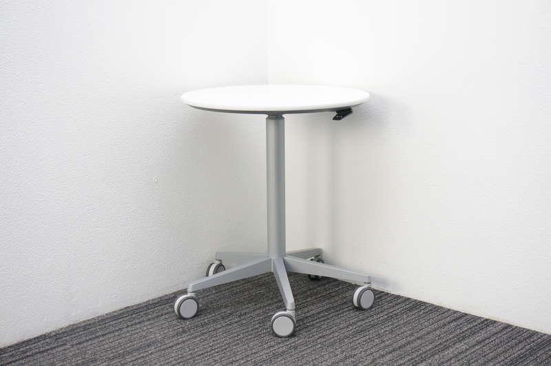 オカムラ アルトコーボウ サポートテーブル(昇降丸テーブル) Φ600 H700-1000