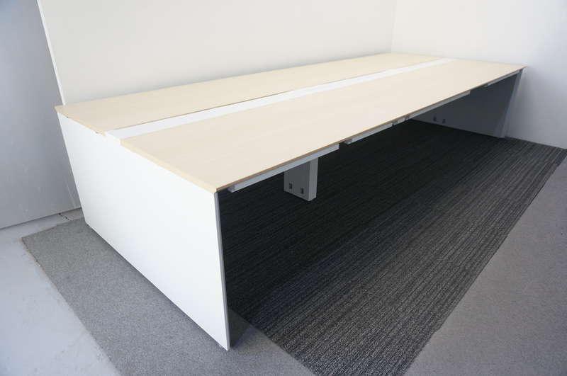 ウチダ アルセナ フリーアドレス 3614 W2400天板×2枚 W1200天板×2枚 6席分 ライトファインウッド H720