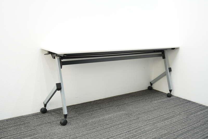 イトーキ HX フラップテーブル 1845 幕板無し 棚板付 ホワイト