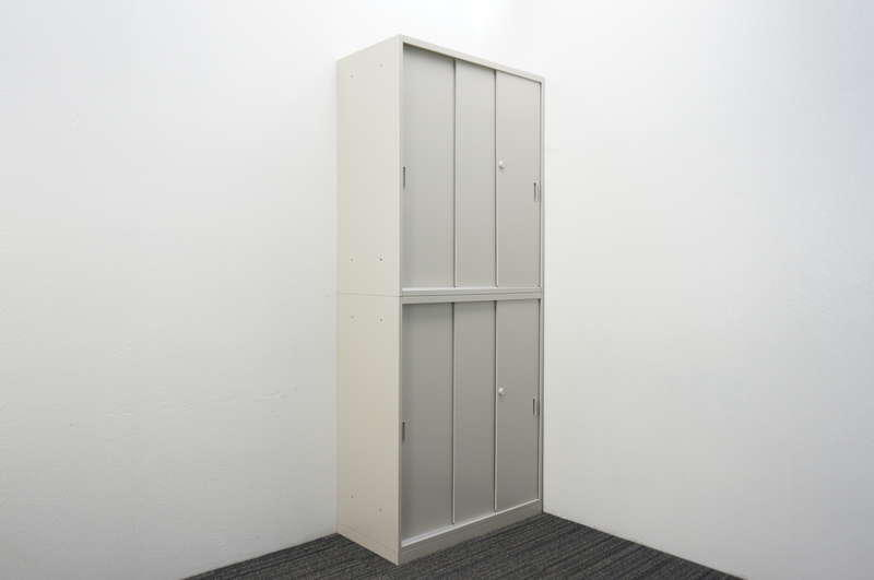 オカムラ 42 3枚引戸2段書庫 H2150