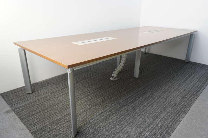 オカムラ DL-6 ミーティングテーブル 3212 オーク柄ウォールナット色