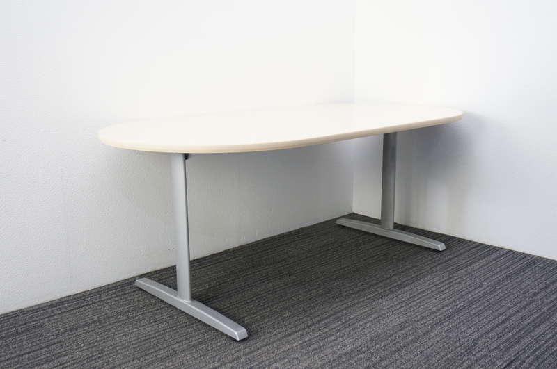 オカムラ 8177 楕円型ミーティングテーブル 1890 ライトプレーン
