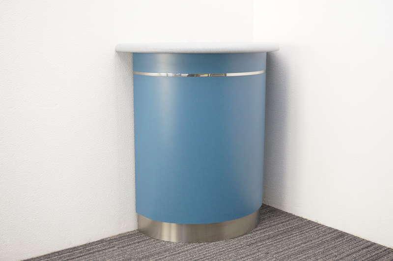 オカムラ 無人インフォメーションカウンター ラウンドタイプ ブルー W900 D450 H950