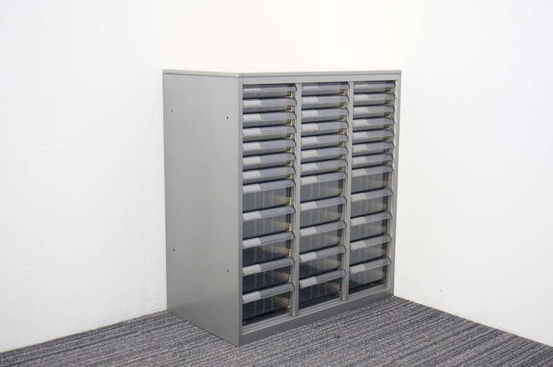 オカムラ SAソフトウッド 書類整理庫 3列12段 コンビ 天板付 H924