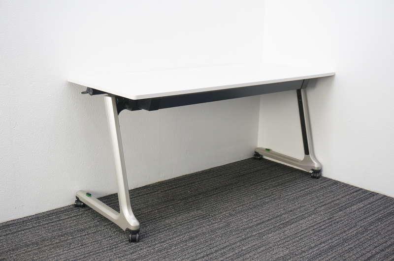 イトーキ コンシア フラップテーブル 1560 幕板無し ホワイト