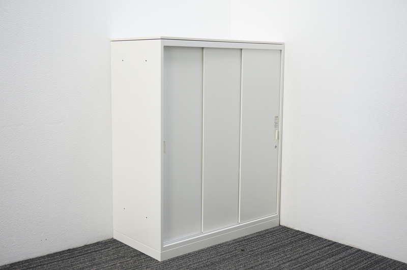 オカムラ レクトライン 3枚引戸書庫 天板付 H1115 ZA75色
