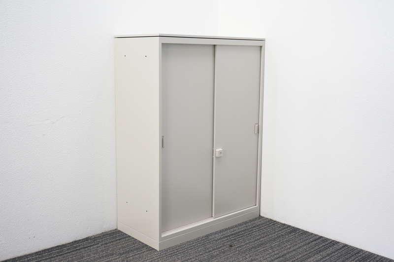 オカムラ レクトライン 2枚引戸書庫 天板付 W800 D400 H1115 Z13色