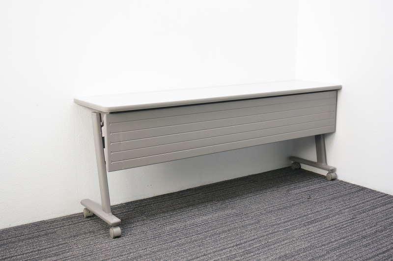 オカムラ 8184型 Nタイプ フラップテーブル 1845 幕板付 網棚付