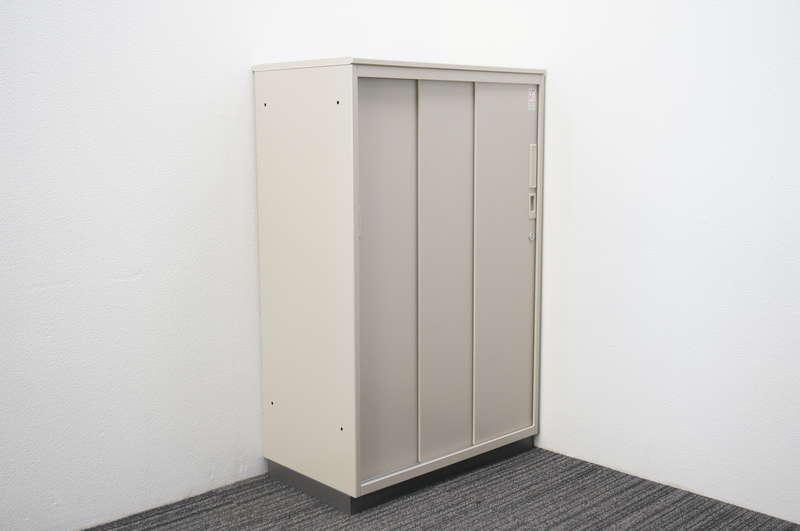 コクヨ 3枚引戸書庫 天板付 シングルベース W800 D450 H1265