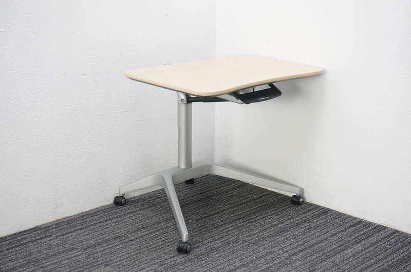 オカムラ ライズフィット2 昇降テーブル W726.5 D652 H650-1000 ネオウッドライト