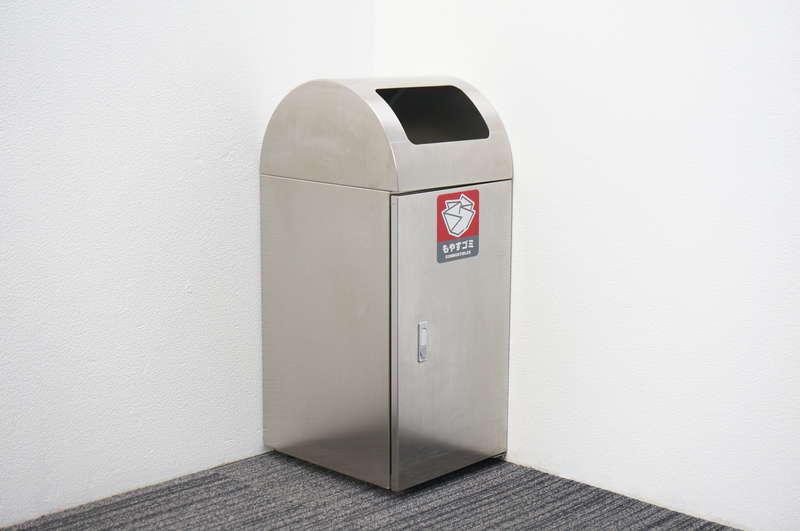 コクヨ リサイクルボックス ステンレスタイプ もやすゴミ用 W350 D432 H850
