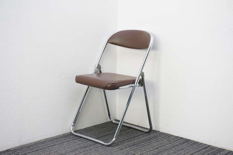 コクヨ 折りたたみパイプ椅子 ブラウン