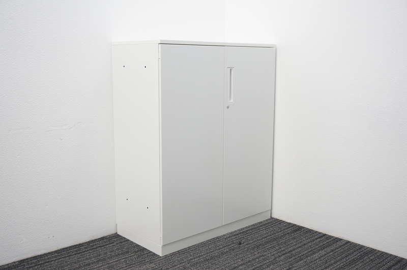 コクヨ エディア 両開き書庫 天板付 H1130 ホワイト