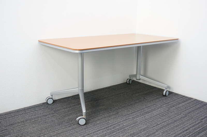 コクヨ アットラボ ミーティングテーブル 1575 キャスター脚 H720 木目