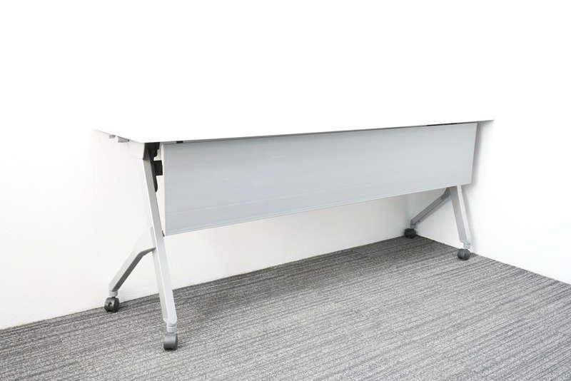 オカムラ フラプター フラップテーブル 1845 幕板付 網棚無し H720 ホワイト